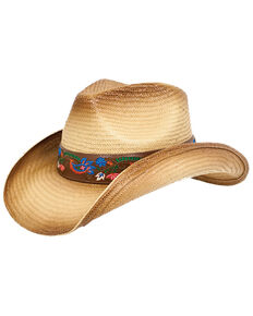 6114d6f592b Peter Grimm Women s Alma Floral Band Straw Hat