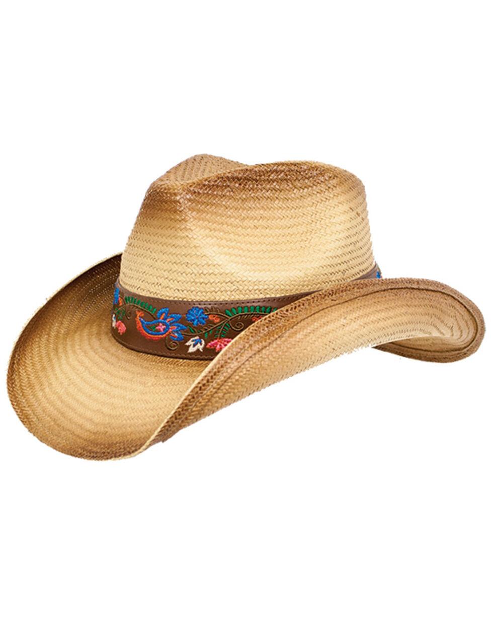 Peter Grimm Women's Alma Floral Band Straw Hat, Tan, hi-res