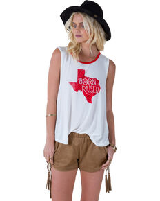 "White Crow Women's ""Born and Raised Texas"" Tank Top, Cloude, hi-res"