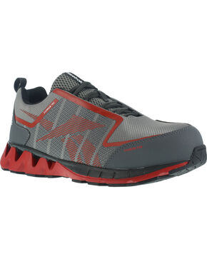 Reebok Men's Mesh Athletic Oxfords - Carbon Toe, Grey, hi-res