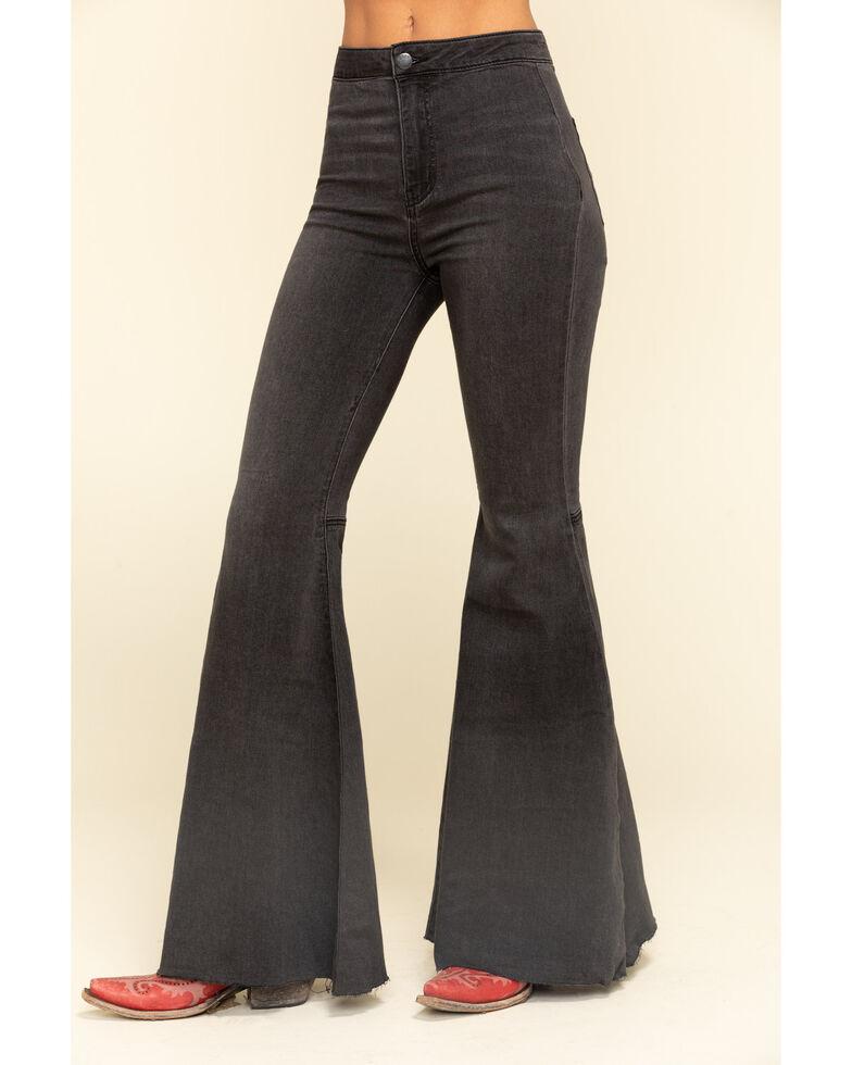Free People Women's Black Just Float on Flare Jeans, Black, hi-res