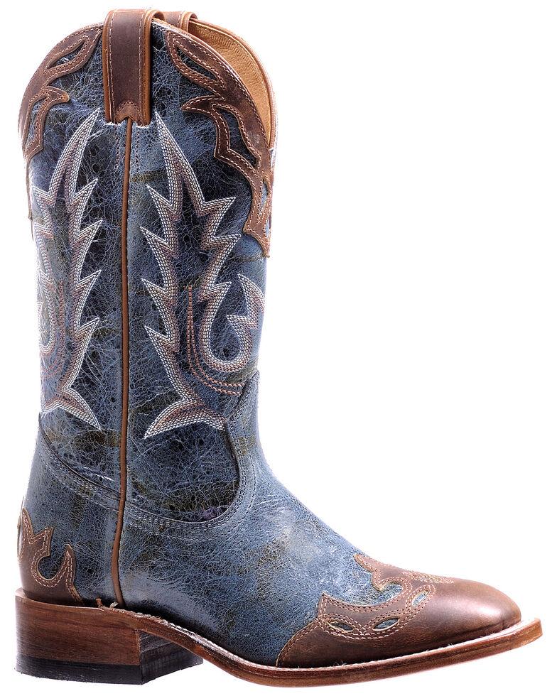 Boulet Women's Blue Western Boots - Square Toe, Blue, hi-res