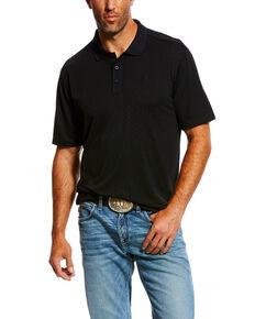 Ariat Men's Black HIVE TEK Stretch Polo Shirt , Black, hi-res