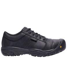 Keen Men's La Conner Work Shoes - Aluminum Toe, Black, hi-res