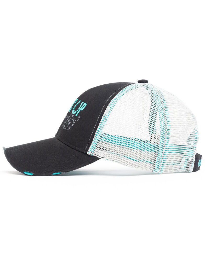Shyanne Women's Saddle Up Darlin Mesh Ball Cap , Black, hi-res