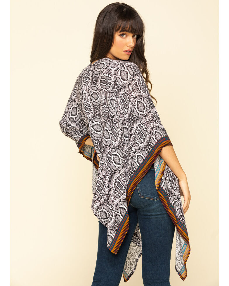 Shyanne Women's Snake Print Shawl , Multi, hi-res