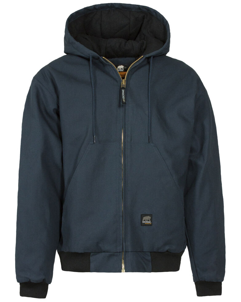 Berne Duck Original Hooded Jacket - 5XL and 6XL, Navy, hi-res
