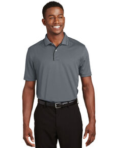 Sport Tek Men's Dri-Mesh Short Sleeve Polo Work Shirt , Black, hi-res