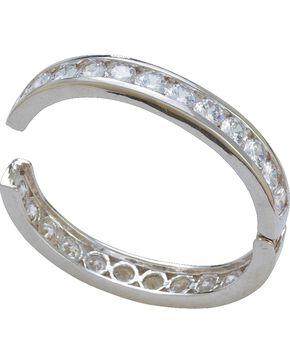 Montana Silversmiths Crystal Shine Silver Bangle Clasp Bracelet, Silver, hi-res