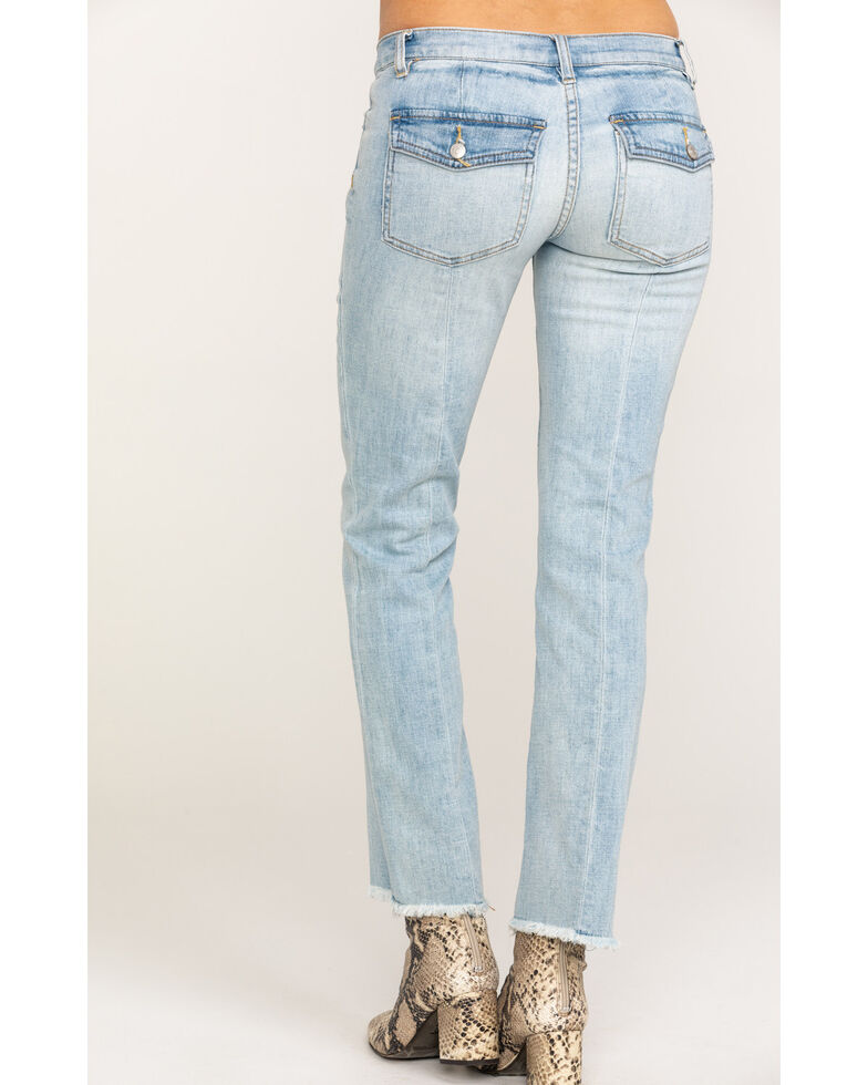 Free People Women's Jean Austen Straight Blue Jeans, Blue, hi-res