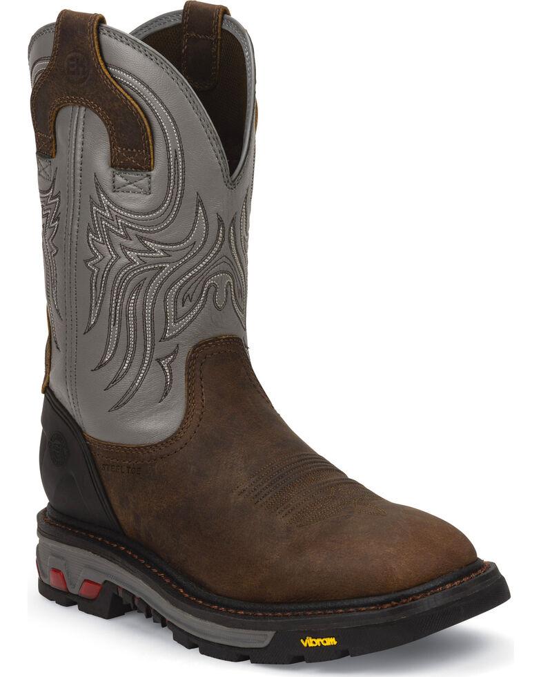 Justin Men's Commander X5 Waterproof Work Boots, Timber, hi-res