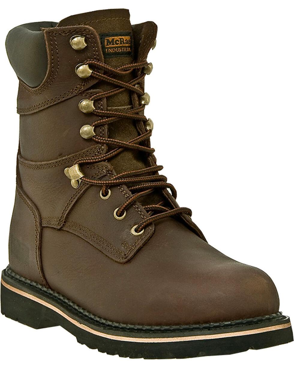 "McRae Industrial Men's 8"" Safety Toe Work Boots, Dark Brown, hi-res"