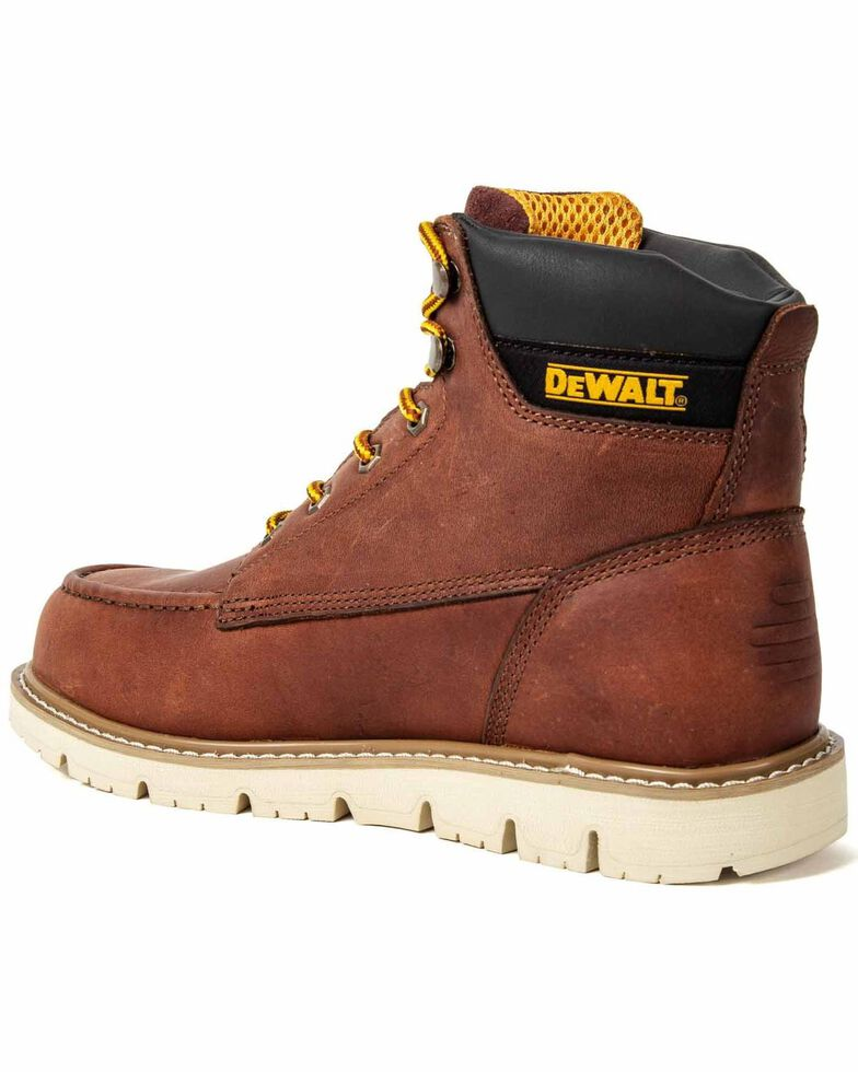 DeWalt Men's Flex Lace-Up Work Boots - Moc Toe, Wheat, hi-res