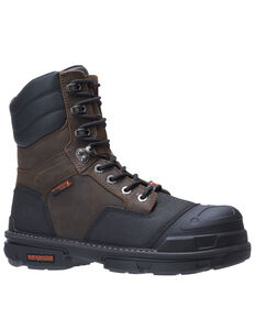 Wolverine Men's Yukon Carbonmax Work Boots - Composite Toe, Dark Brown, hi-res