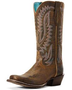 Ariat Women's Circuit Dakota Western Boots - Square Toe, Brown, hi-res