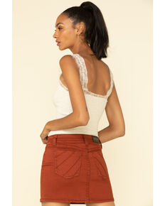 Shyanne Women's Rust Copper Denim Mini Skirt , Rust Copper, hi-res