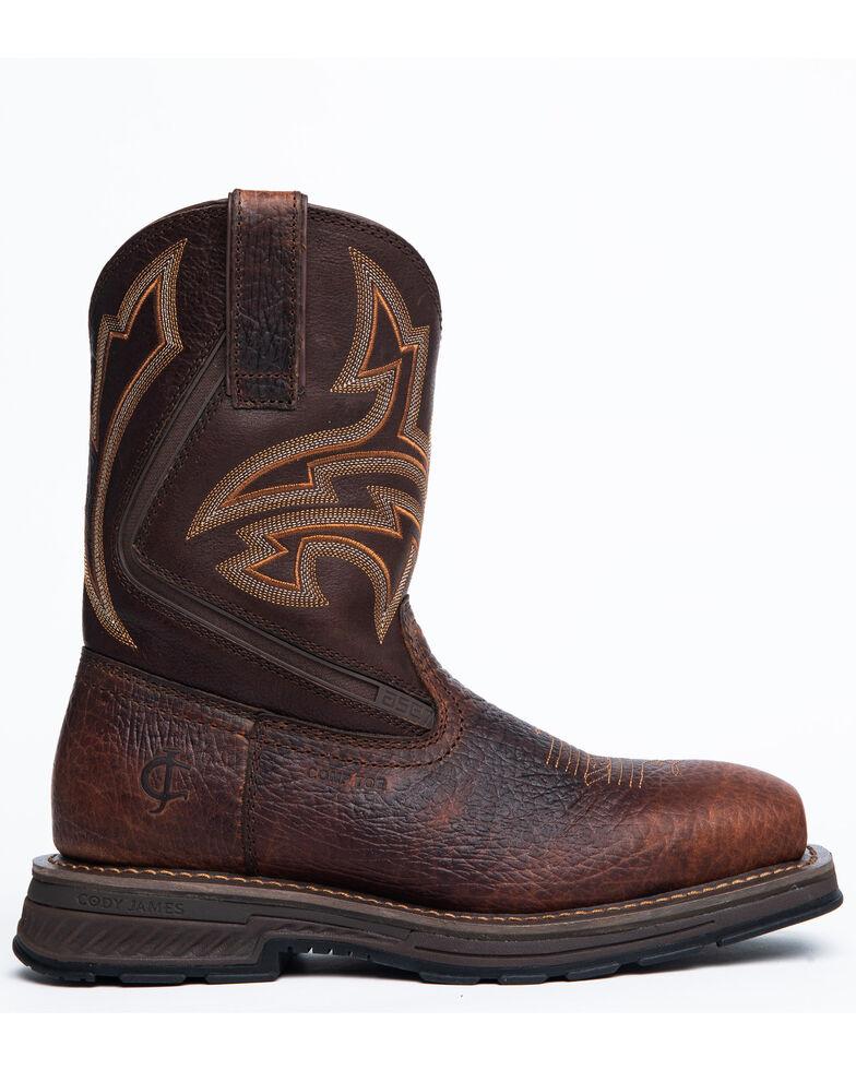 Cody James Men's Disruptor Western Boots - Composite Toe, Brown, hi-res