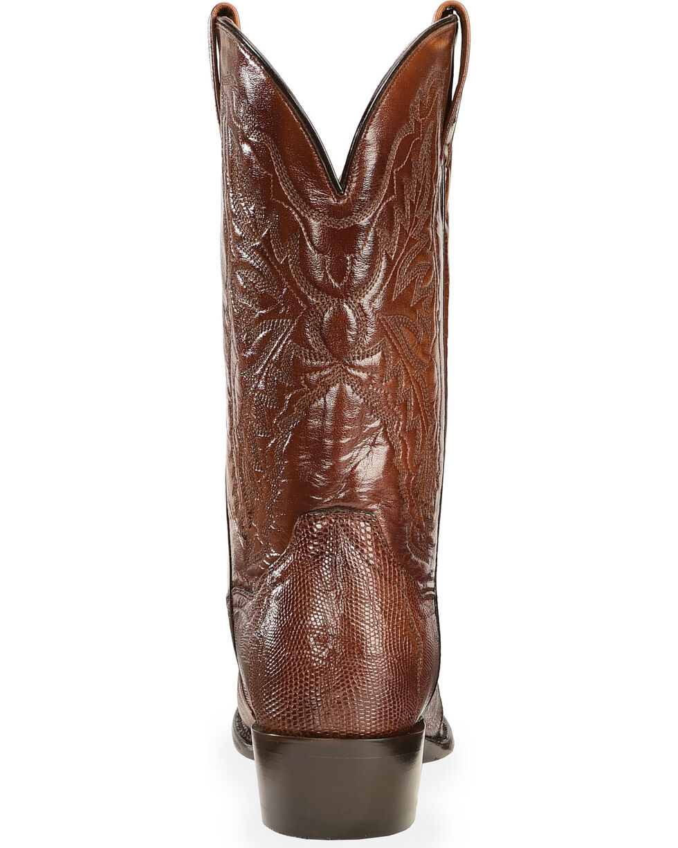 Dan Post Men's Raleigh Lizard Western Boots, Tan, hi-res