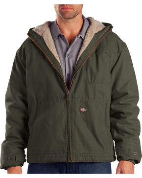 Dickies Hooded Sherpa Lined Work Jacket, Dk Olive, hi-res