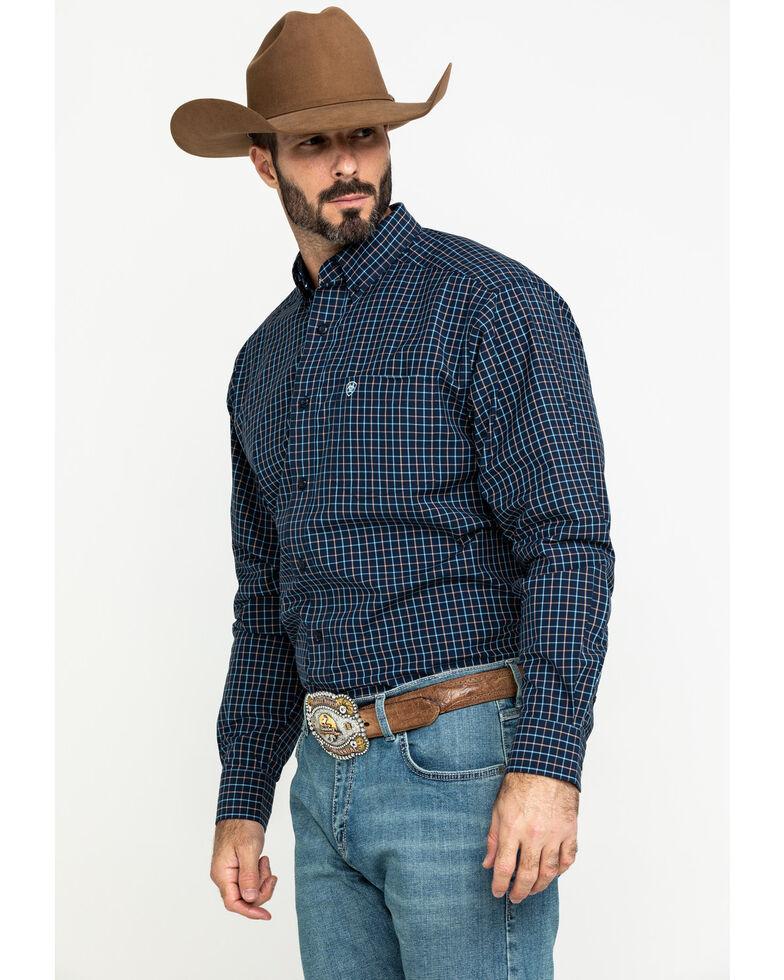 Ariat Men's Lemore Small Plaid Long Sleeve Western Shirt - Big , Black, hi-res