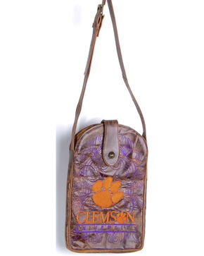 Gameday Boots Clemson University Crossbody Bag, Brass, hi-res