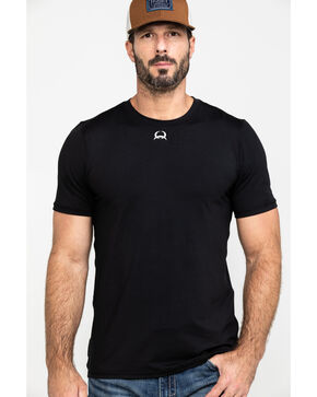 Cinch Men's Athletic Under Shirt, Black, hi-res