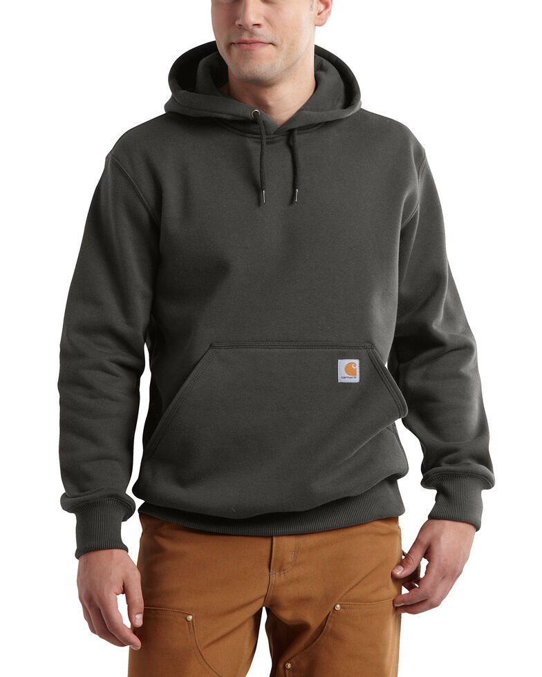 Carhartt Men's Rain Defender Paxton Heavyweight Hooded Sweatshirt, Bark, hi-res