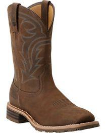 Ariat Men's Waterproof Hybrid Rancher Boots, Brown, hi-res