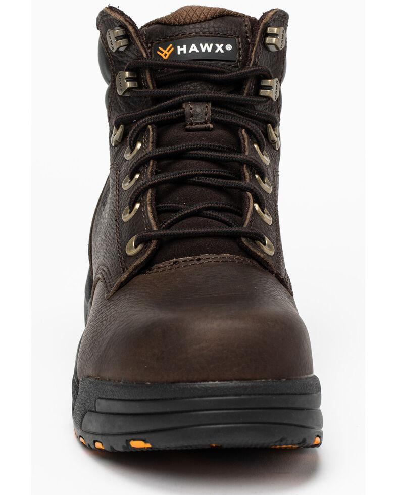 Hawx Men's Chocolate Blucher Work Boots - Composite Toe, Brown, hi-res