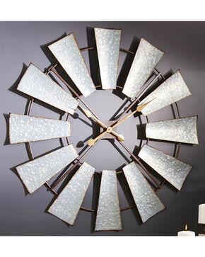 Giftcraft Metal Windmill Design Wall Clock , Steel, hi-res