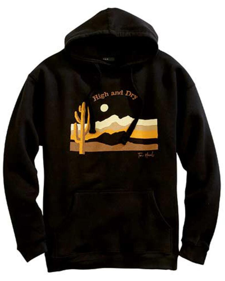 Tin Haul Men's Black Cactus & Mountains Sunset Graphic Hooded Sweatshirt , Black, hi-res