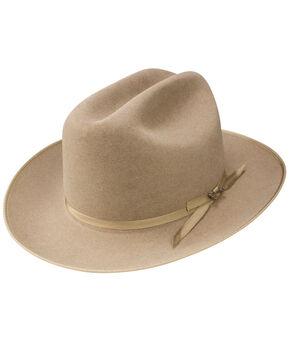 Stetson Men's Natural Open Road Royal Deluxe Hat, Natural, hi-res