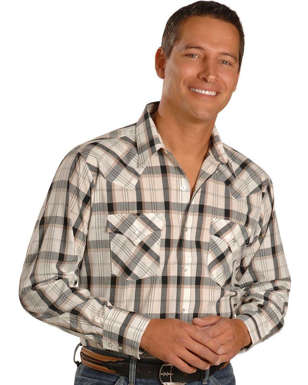 Ely Assorted Plaid & Stripe Long Sleeve Western Shirts - Big & Tall, Plaid, hi-res