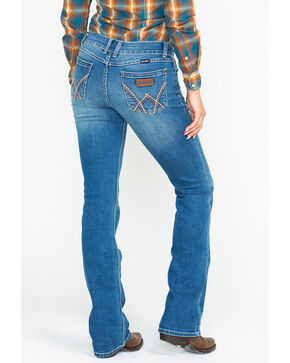 Wrangler Retro Women's Mae Mid Rise Deadwood Boot Jeans, Blue, hi-res