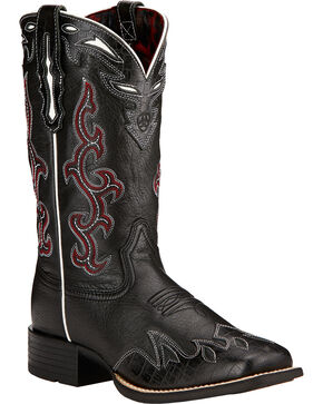 Ariat Women's Sidekick Western Boots, Black, hi-res