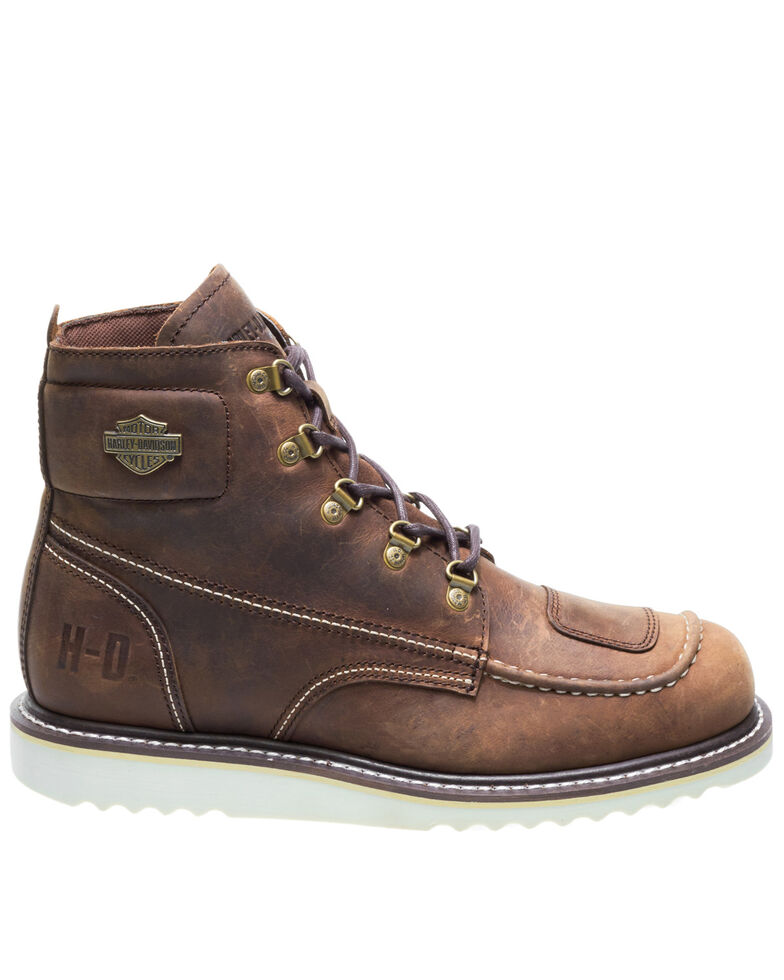 Harley Davidson Men's Hagerman Moto Boots - Rouond Toe, Brown, hi-res