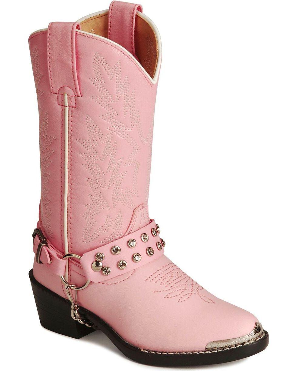 Durango Children's Pink Rhinestone Western Boots, Pink, hi-res
