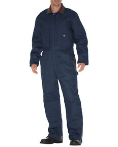 Dickies Men's Duck Insulated Work Coveralls, Navy, hi-res
