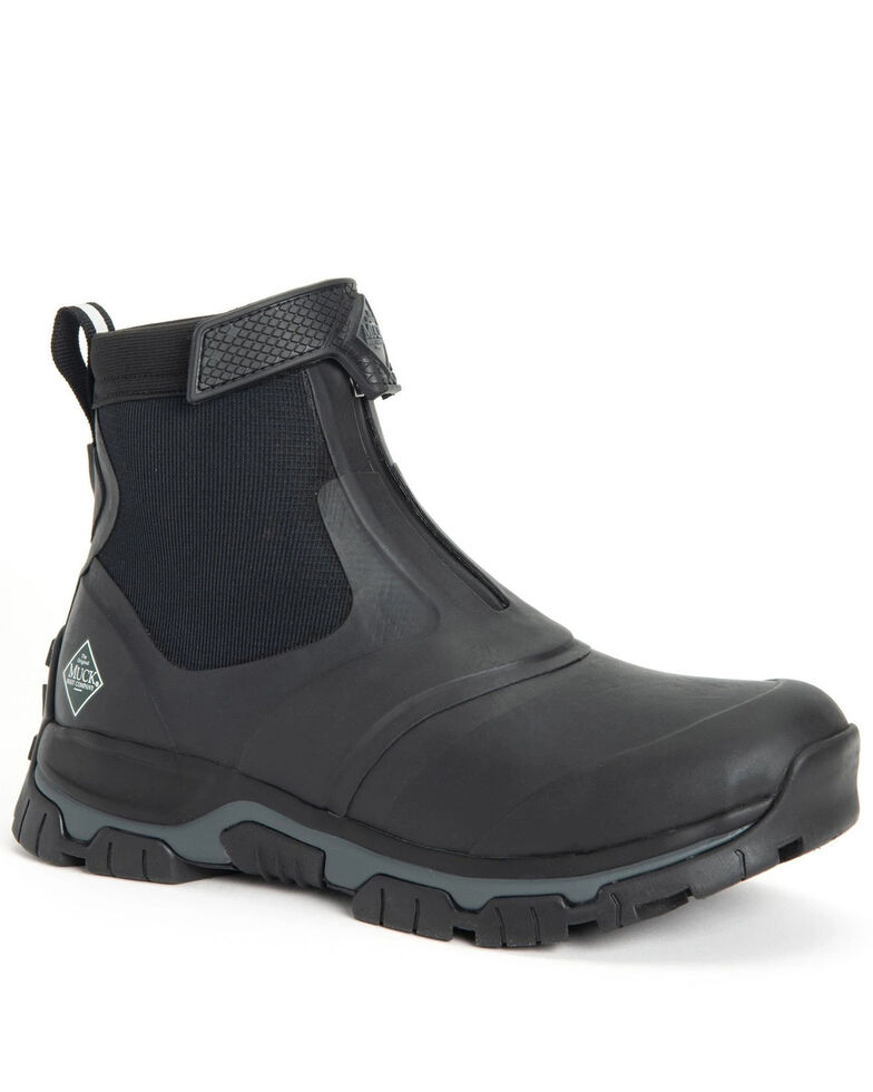 Muck Boots Men's Apex Mid Rubber Boots - Round Toe, Black, hi-res