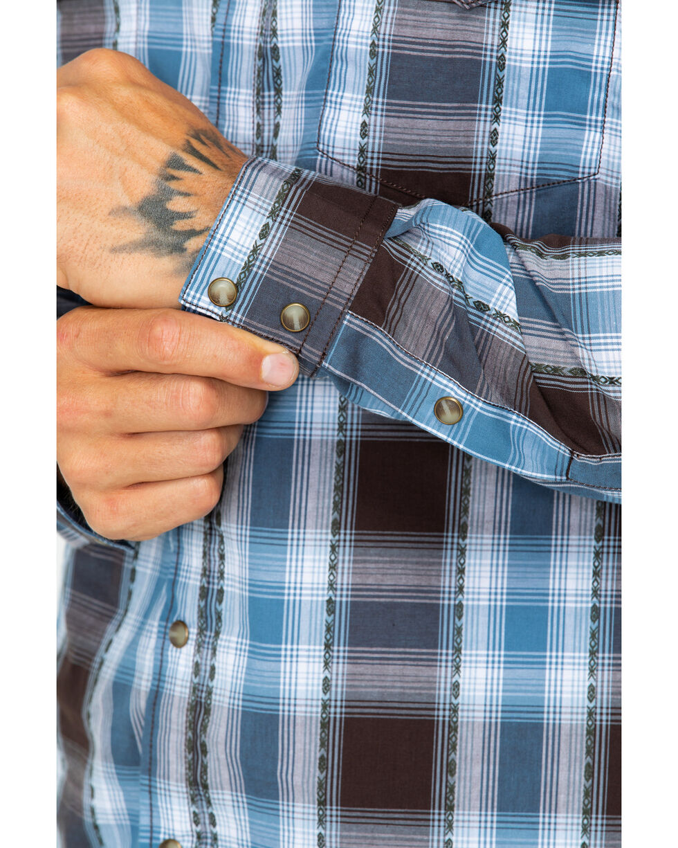 Cody James Men's Basin Plaid Shirt- Big and Tall , Blue, hi-res