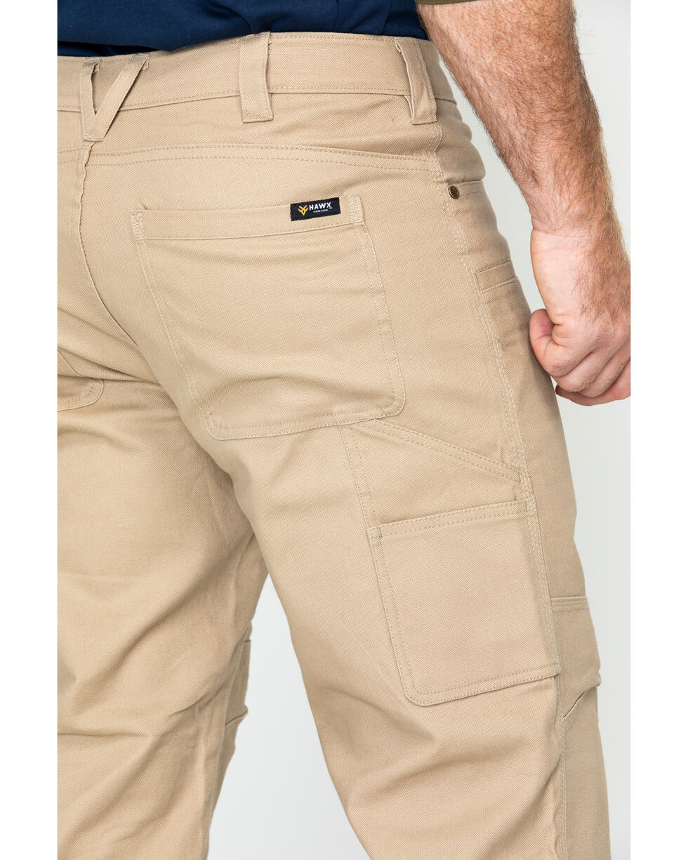 Hawx® Men's Stretch Canvas Utility Work Pants , Beige/khaki, hi-res