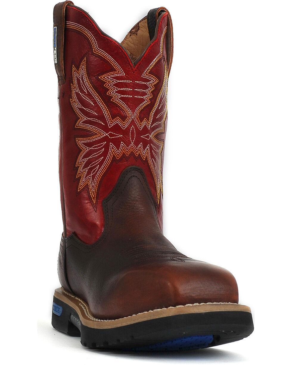 Cinch Men's Waterproof Composite Toe Work Boots, Brown, hi-res