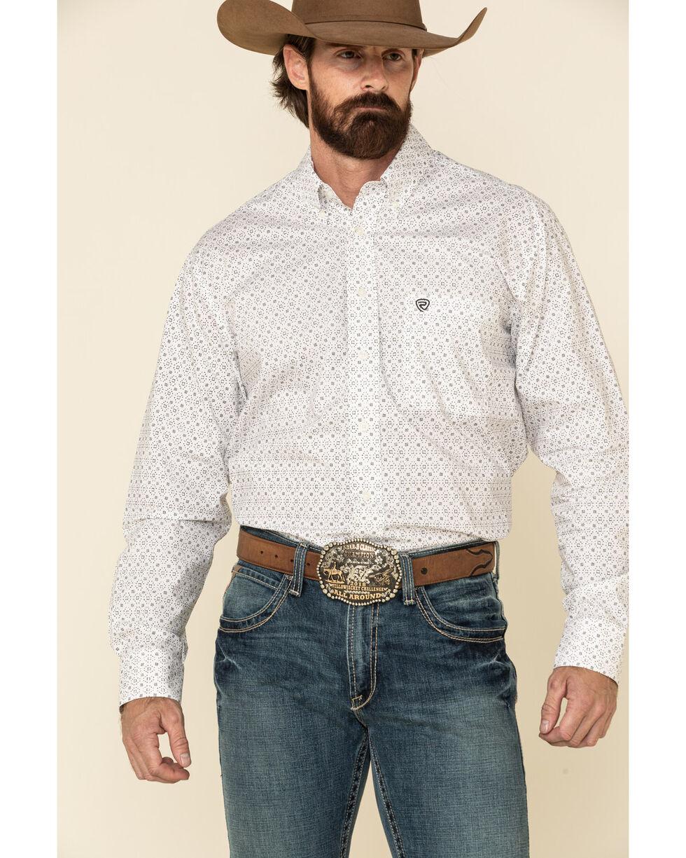 Rock and Roll Cowboy Men/'s Longhorn Skull Print Long Sleeve Western Shirt  Grey