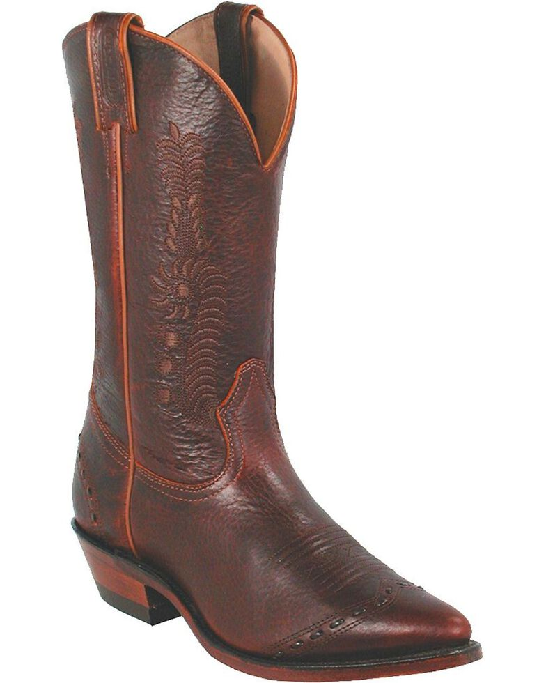 Boulet Leaf Cowgirl Boots - Pointed Toe, Brown, hi-res