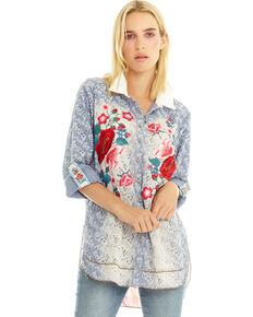 Aratta Women's Coronet Shirt, Indigo, hi-res