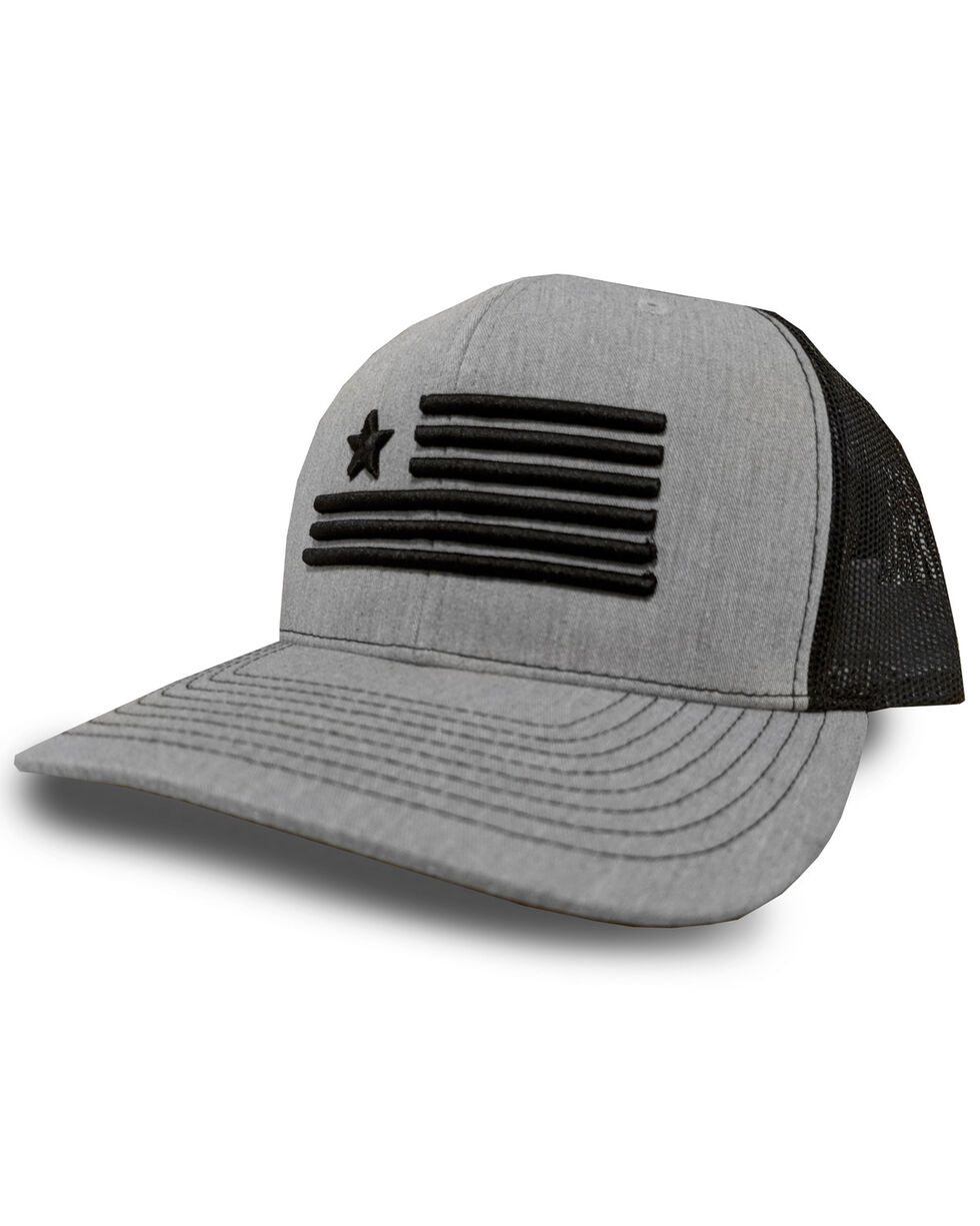 Oil Field Men's Heather Grey Flag Trucker Cap, Heather Grey, hi-res