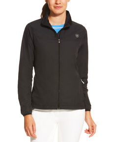 Ariat Women's Black Ideal Windbreaker Jacket, Black, hi-res