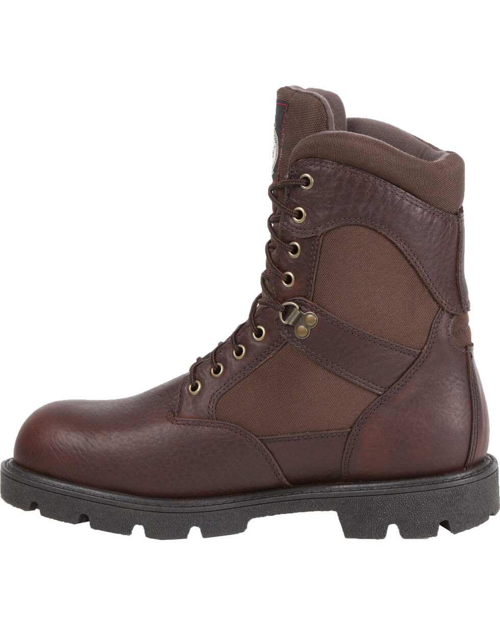 Georgia Men's Homeland Waterproof Insulated Work Boots, Brown, hi-res
