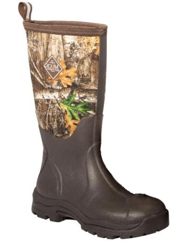 Muck Boots Women's Woody Rubber Boots - Round Toe, Brown, hi-res