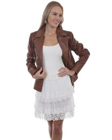 d802c4109 Honey Creek by Scully Women s Natural Tiered Lace Skirt